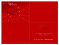 Čestitka za Dan zaljubljenih (presavijena na četiri dela)