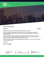 "Poslovno pismo (dizajn ""Zelena šuma"")"