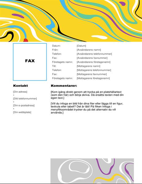 Faxblad med virvelfärg