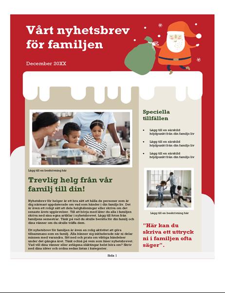 Familjens julnyhetsbrev