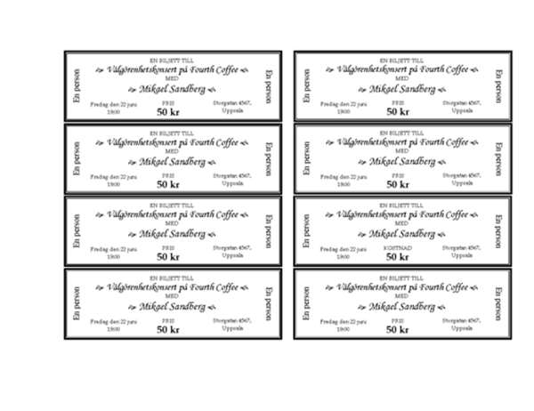 Biljetter till evenemang