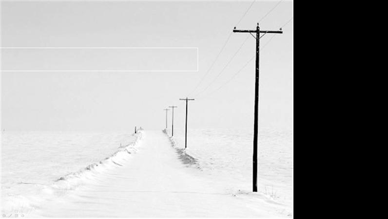 Formgivningsmall: snöig väg