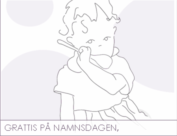 Namnsdagskort (för mormor/farmor)