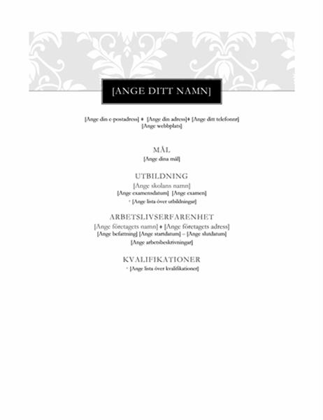 Meritförteckning (Svart slips)