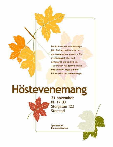 Reklamblad (Höst, med löv)