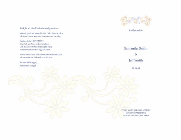 Bröllopsprogram