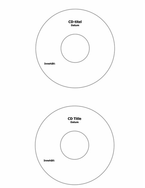 CD-etiketter (fungerar med Avery 5824)