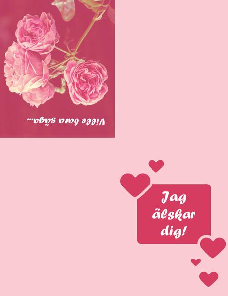 Romantiskt kort (fyrdubbel vikning)