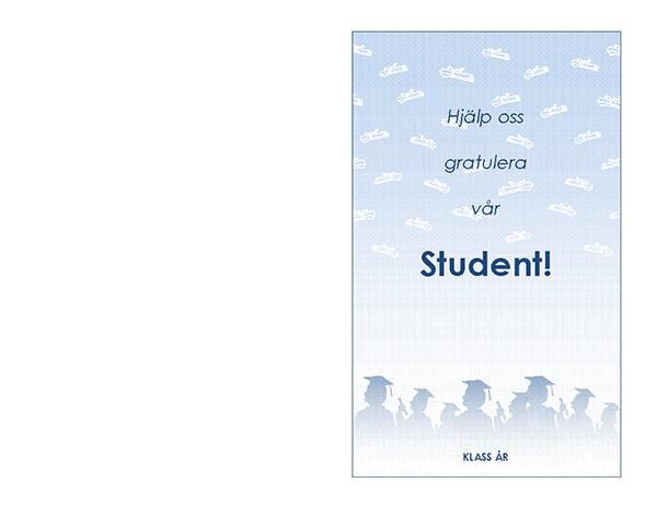 Inbjudan till studentfest (Studentfest, dubbelvikt)