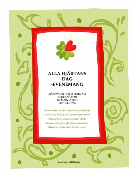 Informationsblad för alla hjärtans dag-evenemang