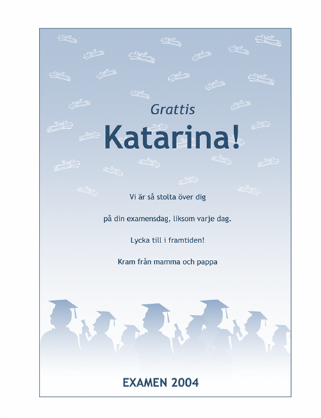 Affisch med gratulation till examen
