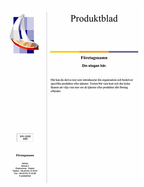 Produktblad (Nivå)