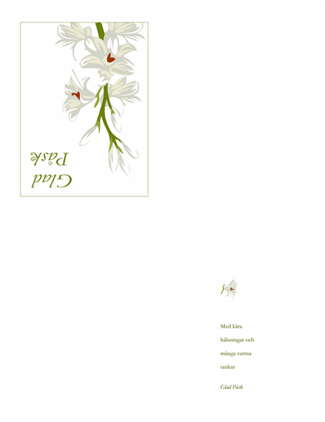 Påskkort (med blommor)