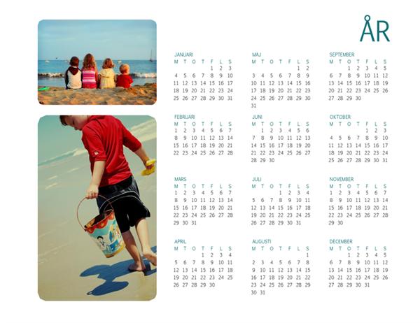 Kalender med familjefoton (ej årsbunden)
