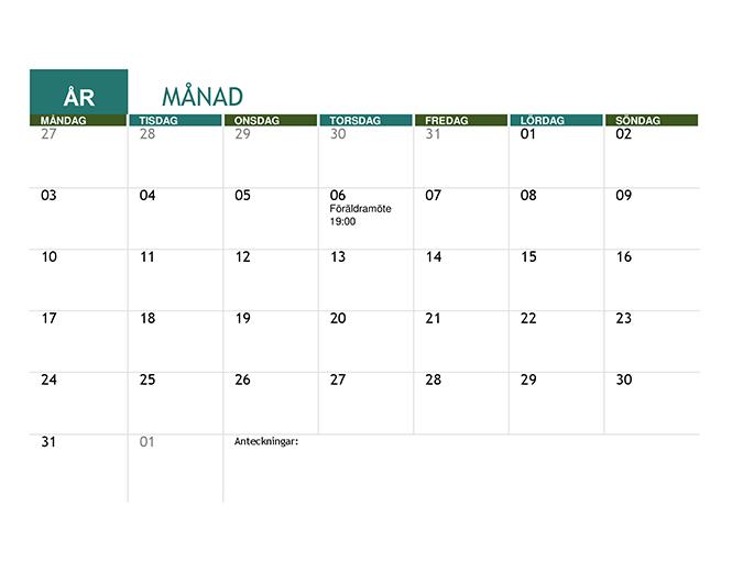 Akademisk kalender