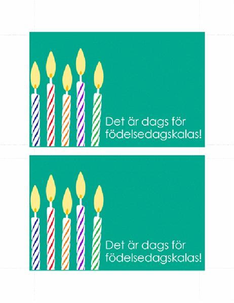 Vykort för födelsedagsinbjudan
