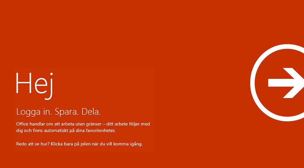 Välkommen till Office on ARM – Logga in, spara, dela