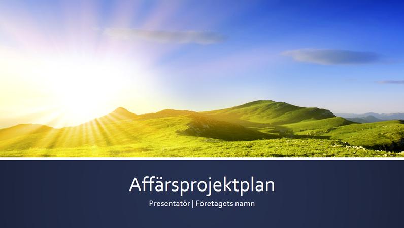 Presentation av affärsprojektplan (bredbild)