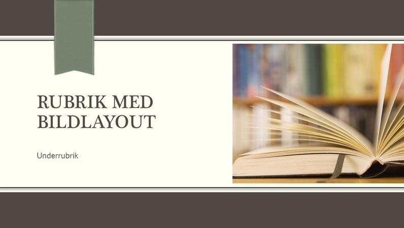 Akademisk presentation, design med kritstreck och band (bredbild)