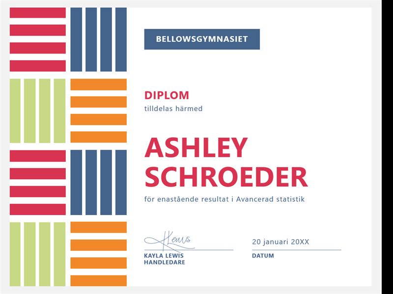 Diplom för elever