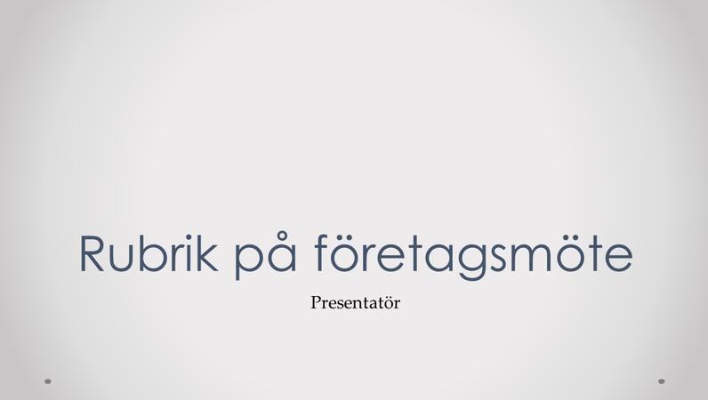 Presentation av företagsmöte