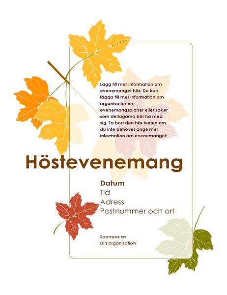 Flygblad för höstevenemang (med löv)