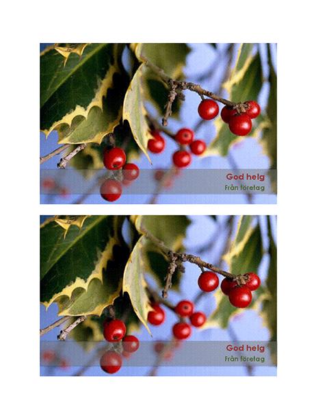 Julkort från företag (2 per sida)