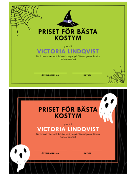 Pris för Halloweenkostym