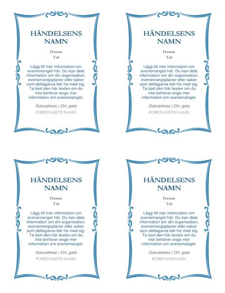 Händelseinbjudningar (4 per sida)