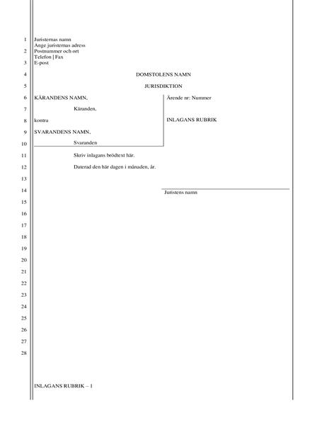 Juridiskt dokument (28 rader)