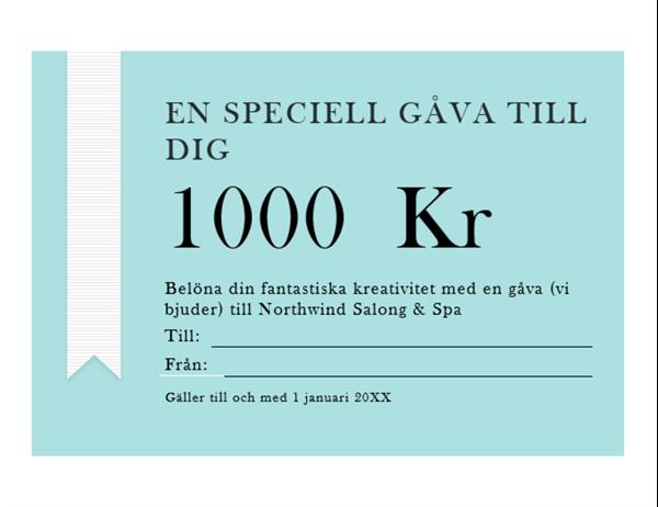 Presentkort (guldband)