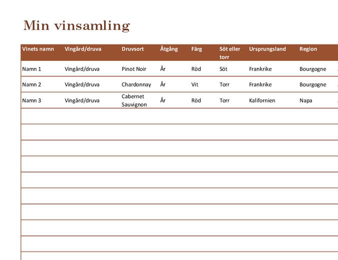 Vinsamlingslista