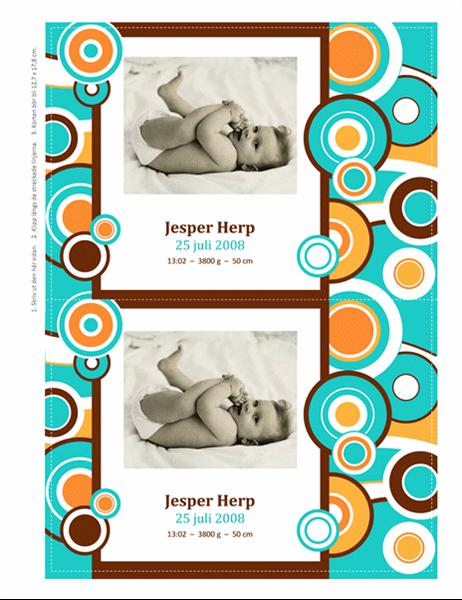 Fotokort för födsel (cirklar)