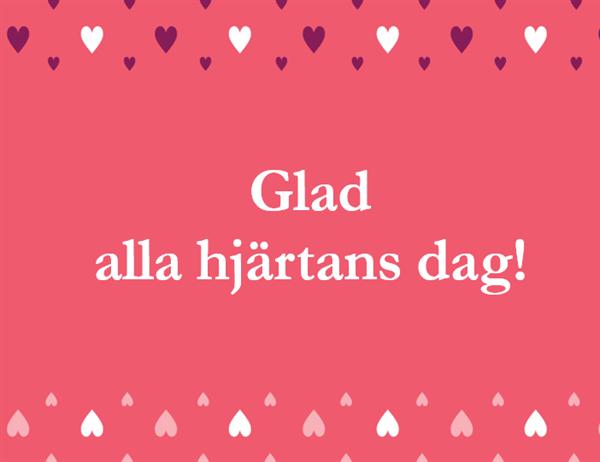 Alla hjärtans dag-kort (fyrdubbel vikning)