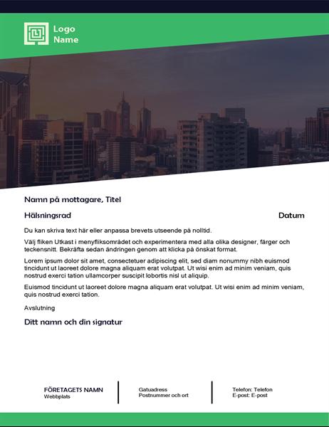 Affärsbrev (design med grön skog)