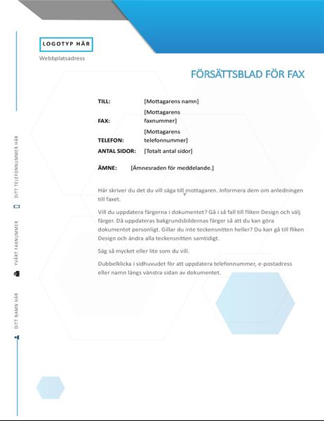 Försättsblad för fax, Hexagon
