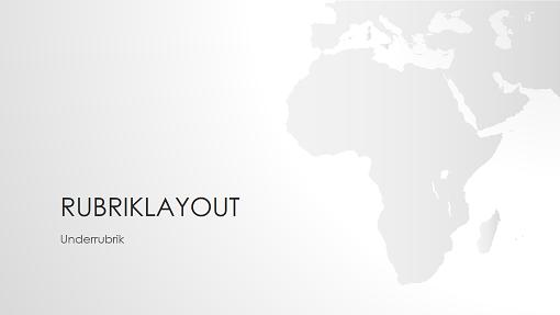 Presentation i världskarteserien, Afrika (bredbildsformat)