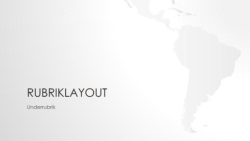 Presentation i världskarteserien, Sydamerika (bredbildsformat)