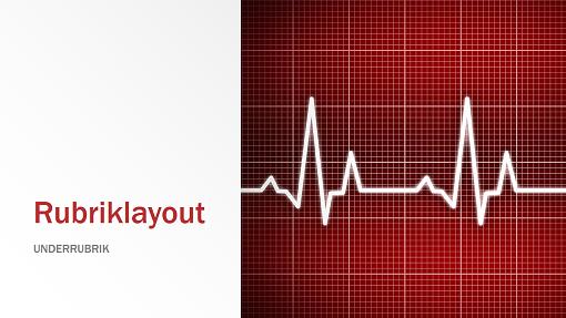 Presentation med medicinskt tema (bredbildsformat)