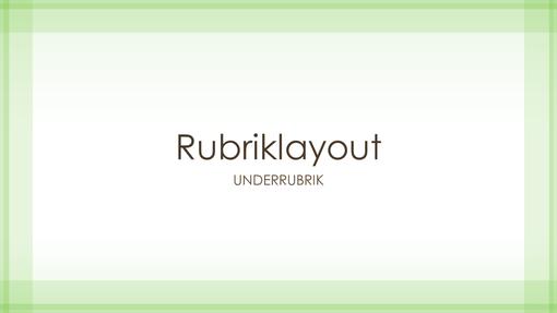 Presentation med design med knallgrön kantlinje (bredbild)