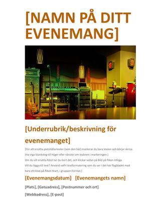 Flygblad för evenemang (orange)