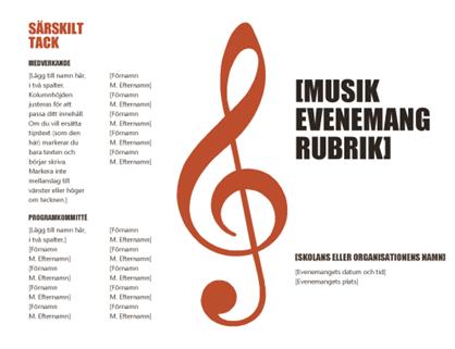 Musikprogram