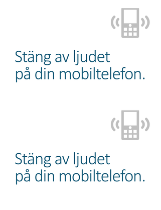 Påminnelseaffisch om att stänga av mobilen