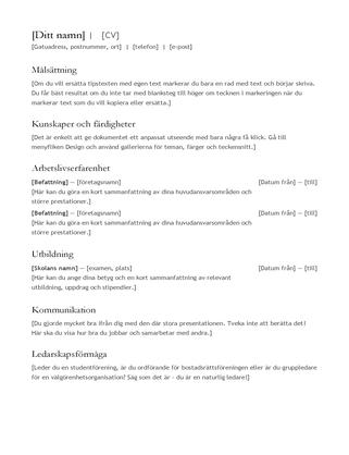 CV (meritförteckning)