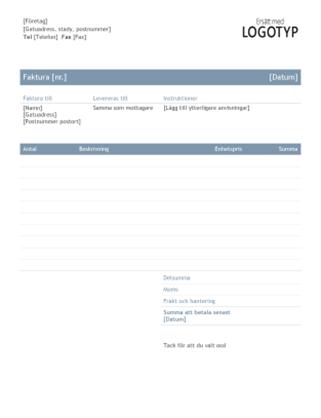 Företagsfaktura (tidlös design)