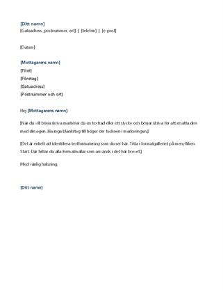 Modernt brevpapper