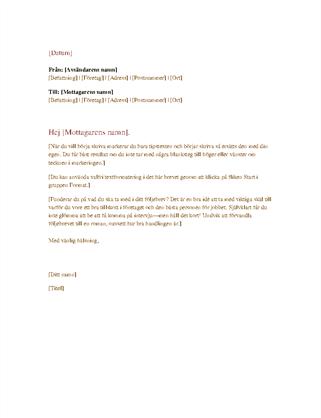 Formellt affärsbrev