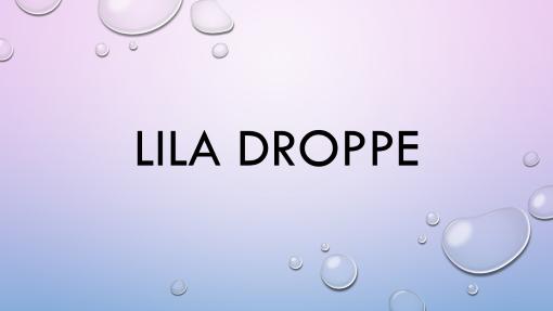 Lila droppe