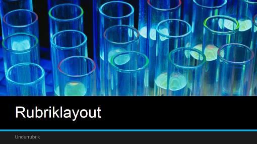Vetenskaplig presentation med laboratorietema (bredbild)