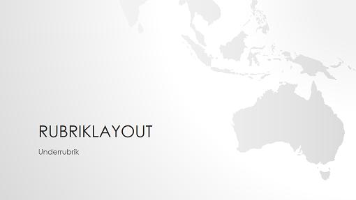 Presentation i världskarteserien, Australien (bredbildsformat)